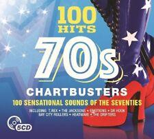 100 HITS-70'S CHARTBUSTERS New Digipack Edition 5 CD NEU