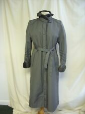 "Ladies Coat Dannimac UK 12, grey & faux fur trims, 47"" long, quilted lining 2314"