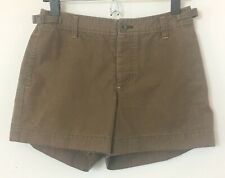 Gap Womens Brown with Orange Trim Casual Shorts 100% Cotton Size 2