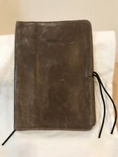 """M0851 Leather Brown Soft Book Sleeve """"RARE"""" 5 1/4"""" X 7 1/4"""""""