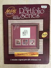 Robin Rowe SIGNED Print Portfolio Serie MENDING THE QUILTS Cross Stitch Leaflet