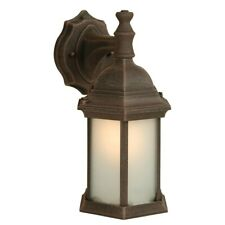 Craftmade Hex Style 1 Light Medium Outdoor Wall, Rust/Frosted - Z294-07-NRG