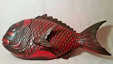 ZOHIKO fish box Kamakura-bori vtg japanese bowl plate black kyoto lacquer art