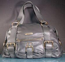 MICHAEL Michael Kors Soft Grey Pebbled Leather Satchel Handbag Brass trim EXC.