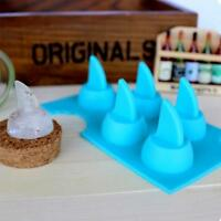 Novelty Home 3D Shark Fin Ice Cream Pudding Jelly Candy Mold Tray Cube Mould Z