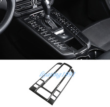 Black Carbon Fiber Gear Shift Box Panel Cover Trim For Porsche Macan 2014-2019