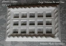 380mm X 255mm Large Plaster Air Vent Cover Victorian Design