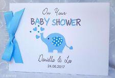 PERSONALISED Elephant - Christening -  Baby Shower - GUEST BOOK /SCRAPBOOK ALBUM
