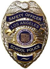 Enmarcado De Policía Insignia impresión: los Angeles Police Escuela (imagen de arte cartel)