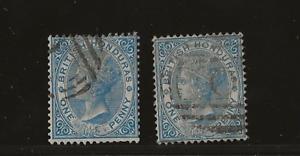 British Honduras, SG 17 Wmk CA, perf 4, 2 shades