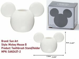 Disney Mickey Mouse B Toothbrush Stand Holder SAN2437-2 Porcelain Sun Art Japan!