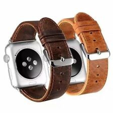 For Apple iWatch Series 5 4 3 2 Luxury Leather Strap Watch Band Wrist Belt US