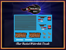 """1/24 Scale '55 Chevy """"Wicked"""" Gasser Decal SCR-124-0096"""