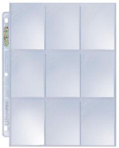 Ultra Pro Platinum 9 Nine Pocket Pages 25 ct free ship