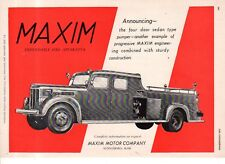 1951 and 1947 Maxim Fire Engine ad - made in Middleboro MA