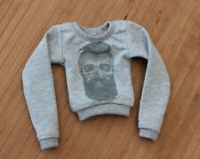 SD BJD 1/3 ball joint doll MyPrintSS grey skull man sweatshirt for SD13 girl