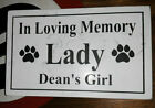 CUSTOM ENGRAVED STONE PET MEMORIAL HEADSTONE DOG CAT GRAVE MARKER PLAQUE