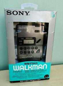Sony walkman cassette player WM-FX43 inc headphones. Working 100%. original box