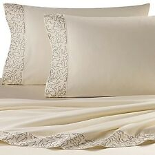 NEW DRANSFIELD ROSS ANTIGUA EMBROIDERED CALIFORNIA KING SIZE SHEET SET