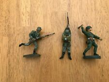 Antique 54mm Elastolin and Lineol WWII German Soldiers - 3 figures