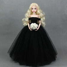 Mimi Collection MSD SD Toy Clothes 1/4 BJD Doll Black Wedding dress with veil