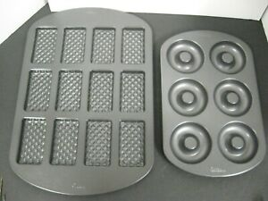 LOT WILTON Non-Stick Baking Tray Cookie MOLD Shortbread Wafer Molds TRAY SHEET