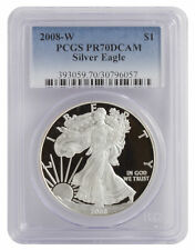2008-W 1oz Proof American Silver Eagle PR70 PCGS - Blue