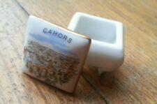 Petite boîte sur pied ancienne Cahors type carte postale