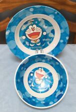 Set of 2 Superware Melamine Manga Anime Doraemon Plastic Bowl and Plate Euc