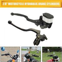 Leviers d'embrayage de réservoir de frein hydraulique de 7/8 '' de moto noir