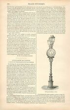 Horloge Pneumatique à Paris France GRAVURE ANTIQUE OLD PRINT 1880