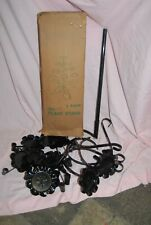 Vintage Black Metal Plant Stand 11 Tier Has never been put together Original Box