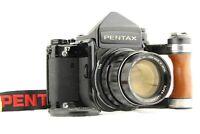 【 NEAR MINT 】 PENTAX 67 TTL Late Model 6x7 + SMC T 105mm Lens + Grip from JAPAN