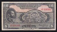 ETHIOPIA ----- 5  DOLLARS  1945 ----- F ------