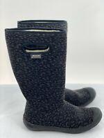Bogs Womens Neoprene Waterproof Lined Rain Boots Black Size 7