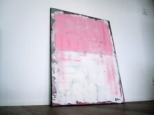 Shabby Chic Kunst Modern Art - French - Vintage Antique Pink Acryl Leinwand