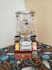 Vintage Play and Score Coin Shooter Basketball Tabletop Candy Vending Machine
