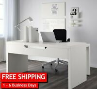 IKEA Malm Office Desk, Computer Table,Desk With Pull-Out Panel, White 702.141.92