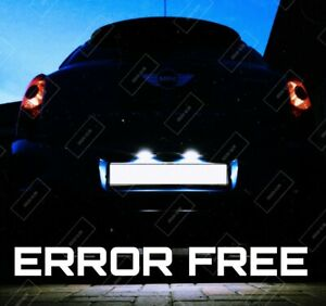 FOR MINI COOPER R50 R52 R53 R56 R57 BRIGHT WHITE LED NUMBER PLATE LIGHTS CANBUS