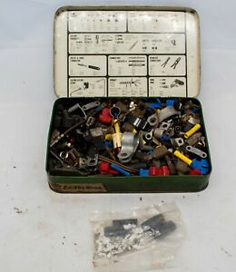 A Tin of Vintage Electrical Fittings - Connectors etc..