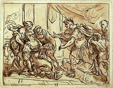 Antonio ciocchi-scena storica-dopo gabbiani-ACQUAFORTE 1762