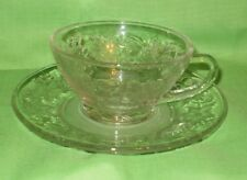 Princess House Fantasia Cups and Saucers Set of 4    (#360)