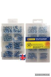 New 106 Pc Assorted Sizes Nuts And Machine Screw Set.M3,M4,M5&M6 Hex Nut 62003