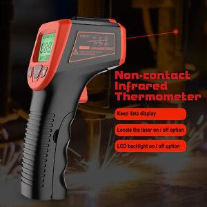 LCD Laser Pyrometer IR Infrarot Thermometer bis 600°C Temperatur Messgerät