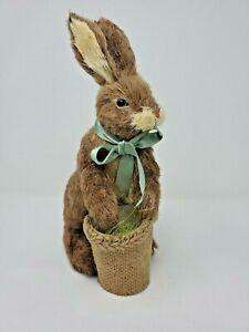 "Sisal Easter Bunny Rabbit with Basket 10""  ""NEW"""