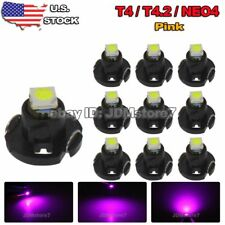 10x Purple Pink T4 T4.2 Neo Wedge 1-SMD LED A/C Climate Dash Cluster Light 12V