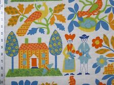 Waverly Plain and Fancy Blueberry Dutch Colonial Roosters Butterflies berries