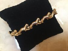 "Estate 14K Yellow Gold Pantera Link 7.25"" Bracelet Unique RARE Italy MUST SEE"