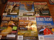 Hobby Farms Magazines FULL YEAR 2006-SIX issues-Meat Goats, Home Dairy,MUCH more