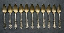 R. BLACKINTON Sterling Silver FRUIT SPOONS (11) - HELENA - Gold Wash 5 3/8""